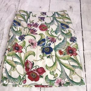Ann Taylor Cotton Floral Mini Skirt